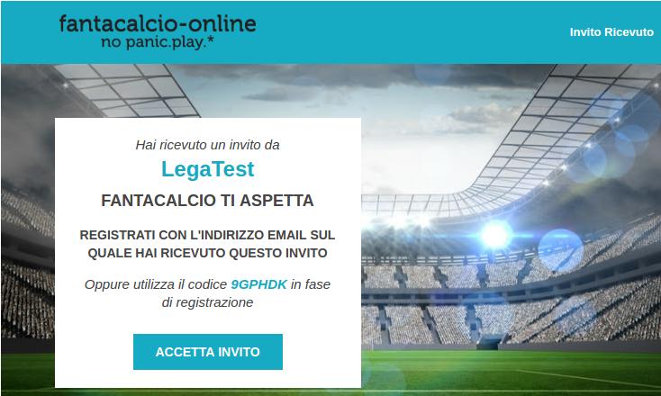 Invito via Email   Fantacalcio-Online