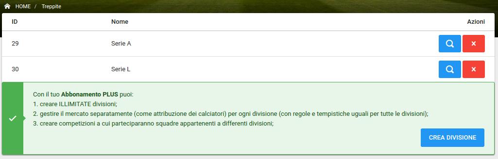 Multidivisione Mercati Separati | Fantacalcio-Online