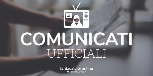 Comunicati Ufficiali Fantacalcio Online